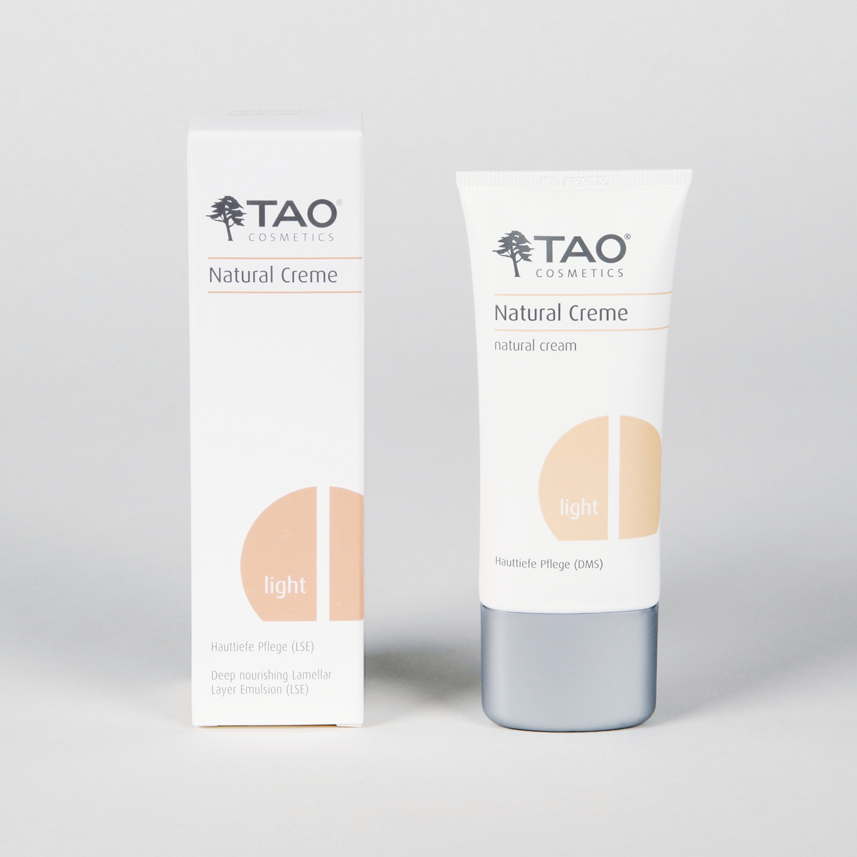 Verpackung Nautral Creme hell Tao Cosmetics
